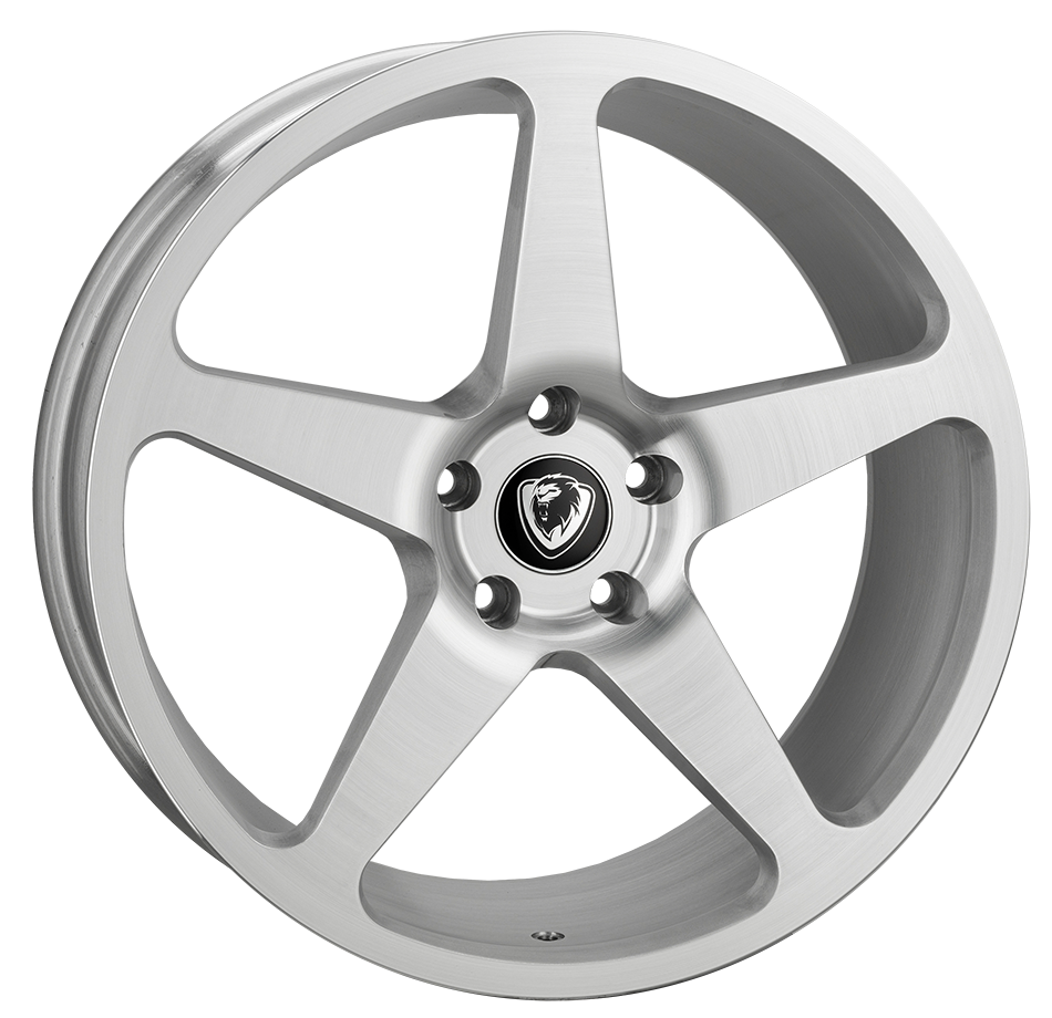 20x8.5 5x120 ET40 Cades Vulcan Brushed Silver VW T5 fit