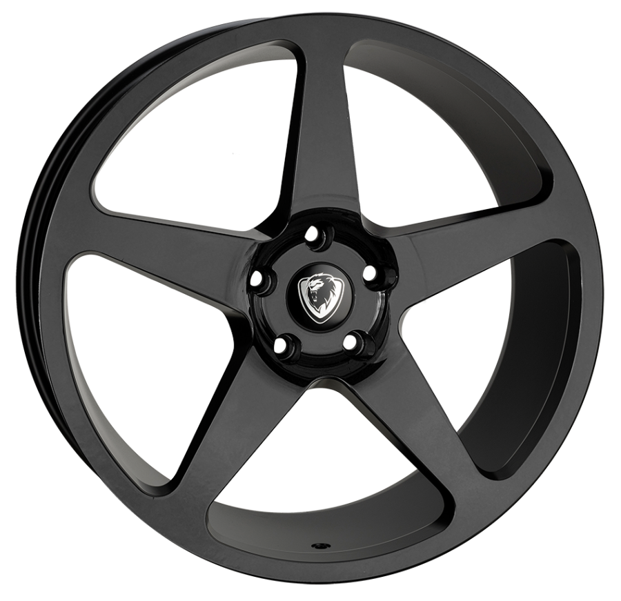 20x8.5 5x120 ET40 Cades Vulcan Gloss Black VW T5 fit