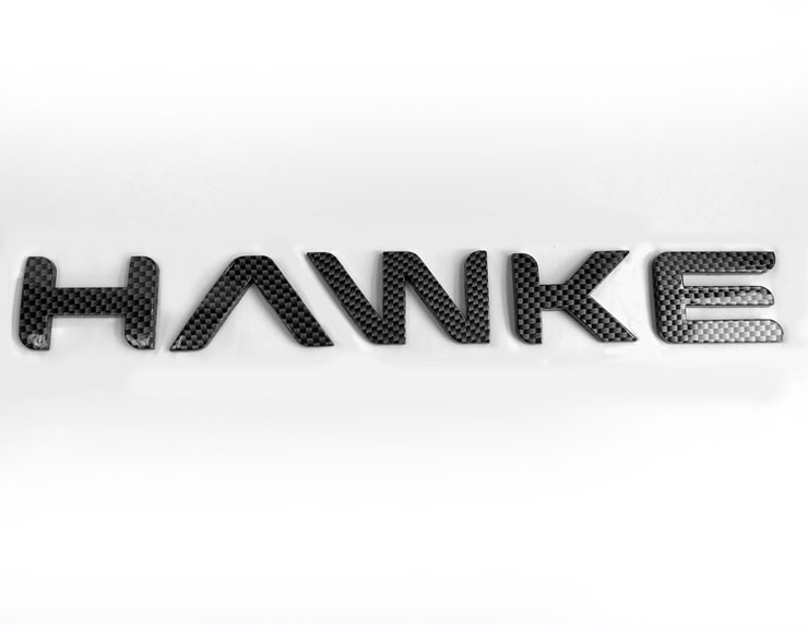 HAWKE Logo Carbon Bonnet or Boot/Tailgate Letters