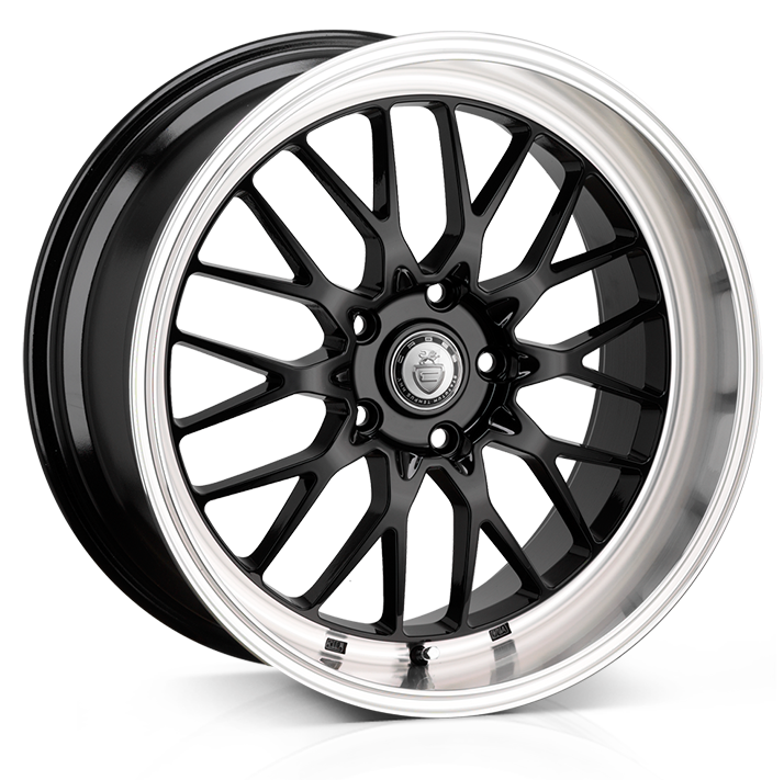 17x7.0 4-100 ET40 Cades Tyrus Black Lip Polish
