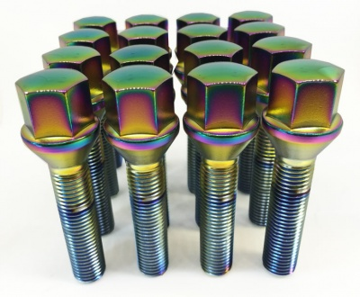 (Set of 10) 12X1.25 50mm Tapered 17Hex TPi Polarised Bolts
