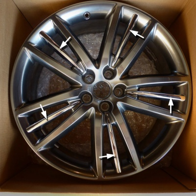 Jaguar Selena Chrome Alloy Wheel Insert x 20 XF XJ XK