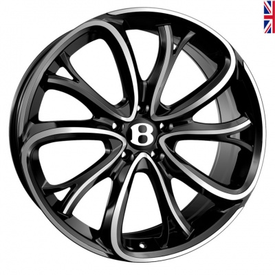 SSR SSR III Alloy Wheels 21 inch 5x112 (ET30) | Black Polish x 4