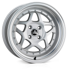 Junk Eighty-six wheels 16 x 8.0 & 9.0J 4-100 | Matt Silver Polish 2 fronts & 2 wider rears [staggered]