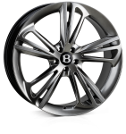 HAWKE Aquila wheels 22 inch 5-112 | Dark Silver (Chromite) - Set of four