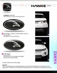 HAWKE Crested Range Rover Boot or Tailgate Badge