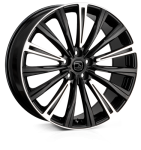 20x8.5 5-120 ET48 HAWKE Chayton Black Highlighted