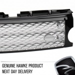 Supercharged Style Front Grille Black with Silver for Discovery 3