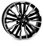 HAWKE Harrier wheels 20 inch 5-108 | Black polished - Set of four