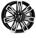 HAWKE Hermes wheels 22 inch 5-108 | Black Polish - Set of four