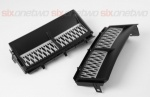 Supercharged Style Side Vents Matt Black with Silver for Range Rover Vogue 2002-2013