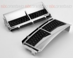 Supercharged Style Side Vents Chrome with Black for Range Rover Vogue 2002-2013
