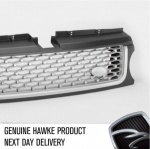 2010 AB Style Front Grille Grey with Silver Mesh & Trim Range Rover Sport 2009 - 2013