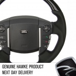 HAWKE Steering Wheel Piano Black Wood with Perforated Leather Sports Grip for Range Rover Sport 2009-13 and Discovery 4