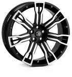HAWKE Saker 2 wheels 22 inch 5-112 | Black Polish - Set of four