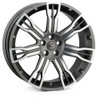 HAWKE Saker 2 wheels 22 inch 5-120 | Gunmetal  Polish - Set of four