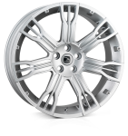 HAWKE Saker 2 wheels 22 inch 5-120 | Silver - Set of four