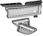 HAWKE AB Styling Bundle Grille Range Rover Sport 05-10 Grey Silver Autobiography