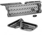 HAWKE Styling Bundle Grille Vents Range Rover Sport 2005-2010 Grey Silver L320