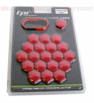 Wheel Nut Covers 19mm Red TPi x 20