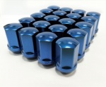 (Set of 10) 12X1.25 19Hex 28mm TPi Xr Alloy Racing Nut Blue