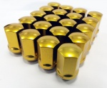 (Set of 10) 12X1.25 19Hex 35mm TPi Xr Alloy Racing Nut Gold
