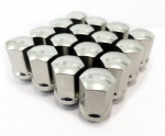 (Set of 10) 12X1.50 19Hex 35mm TPi Xr Alloy Racing Nut Silver