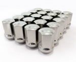 (Set of 10) 12X1.25 19Hex 35mm TPi Xr Alloy Racing Nut Silver
