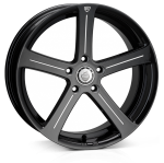 Cades Apollo wheels 19 x 8.5J 5-120 | Black Accent Set of four
