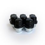(Set of 20) Wheel Nuts in Black LAND ROVER DEFENDER