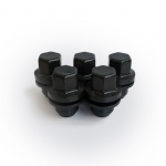 (Set of 20) Black Genuine Land Rover Alloy Wheel Nuts refinished by HAWKE