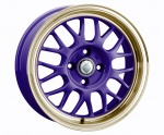 Cades Eros wheels 15 x 6.5J 4-100 | Purple & Gold Set of four