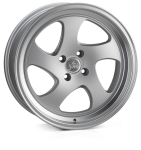 Junk D3kay wheels 17 x 8.0 & 9.0J 4-100 | Matt Silver Polish 2 fronts & 2 wider rears [staggered]