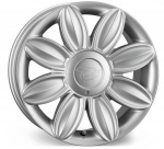 Tansy Daisy wheels 16 inch 4-100/108 | Silver - Set of four