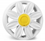 Tansy Daisy wheels 16 inch 4-100 | White - Set of four