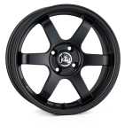 Junk Debris wheels 15 x 7.0 & 8.0J 4-100 | Matt Black 2 fronts & 2 wider rears [staggered]