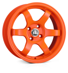 Junk Debris wheels 15 x 7.0 & 8.0J 4-100 | Orange 2 fronts & 2 wider rears [staggered]