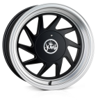 Junk Dreg wheels 16 x 8.0 & 9.0J 4-100/108 | Matt Black lip Polish 2 fronts & 2 wider rears [staggered]