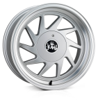 Junk Dreg wheels 16 x 8.0 & 9.0J 4-100/114 | Matt Silver Polish 2 fronts & 2 wider rears [staggered]
