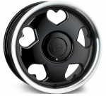Tansy Love wheels 16 inch 4-100/108 | Black Polish - Set of four