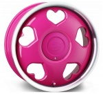 Tansy Love wheels 16 inch 4-100/108 | Pink Polish - Set of four