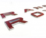 RANGE ROVER style 3D Red with Chrome Outline Bonnet Boot Letters