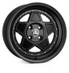 Junk Rejekt wheels 15 x 7.0 & 8.0J 4-100 | Matt Black 2 fronts & 2 wider rears [staggered]