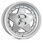 Junk Rejekt wheels 15 x 7.0 & 8.0J 4-100 | Matt Silver 2 fronts & 2 wider rears [staggered]
