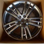 Genuine Jaguar Selena Chrome Alloy Wheel Insert x 1 XF XJ XK