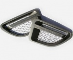 Supercharged style Side Vents Grey with Silver for Range Rover Sport 2005-2009