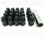 12x1.25 20D 33L TPi SD (Tuner) Nutz Steel Black 20 Pack with Locks