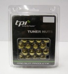 12x1.25 20D 33L TPi SD (Tuner) Nutz Steel Gold 20 Pack with Locks