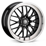 19x8.5 5-112 ET45 Cades Tyrus Black Lip Polish