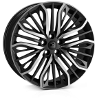 HAWKE Vega wheels 22 inch 5-108 | Black Polished - Set of four